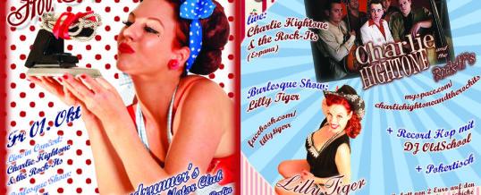 Lilly Tiger am 1 Oktober im Roadrunners – Flyer Fotos