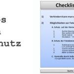 Checkliste-Fotoschutz