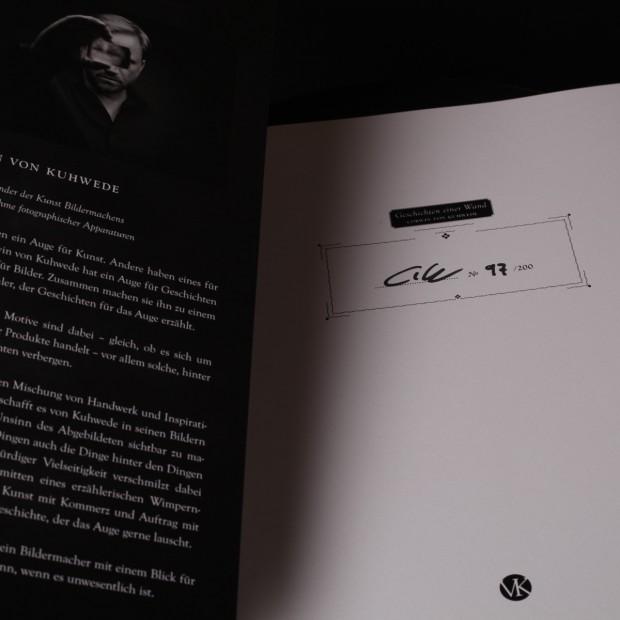 Eines der limitierten Exemplare - signiert mit den Initialien CvW und der Nr. 98