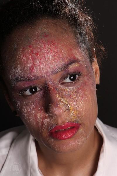 Kreide-Makeup