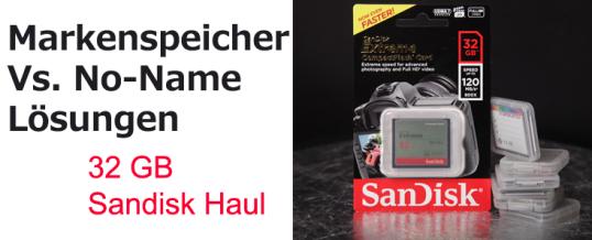SanDisk Speicherkarten Haul