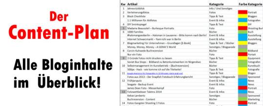 Der Content-Plan: Ein Trick um Blogartikel  zu planen