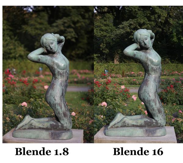 Blendenverlgeich f1.8 und f.16
