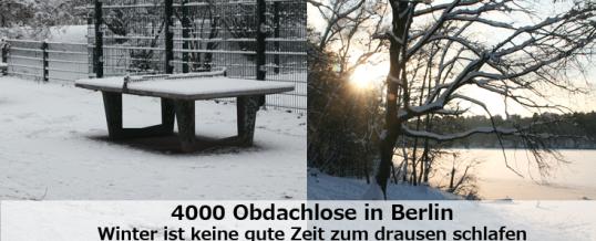 Unsichtbar: Obdachlose im Winter und der Kältebus
