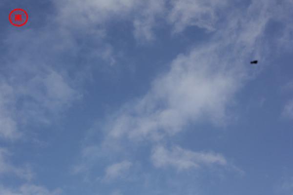 Sensorfleck am Himmel