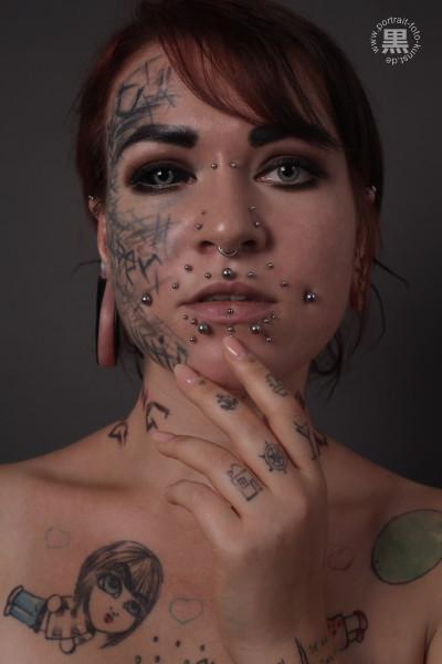 Gesichts-Tatto
