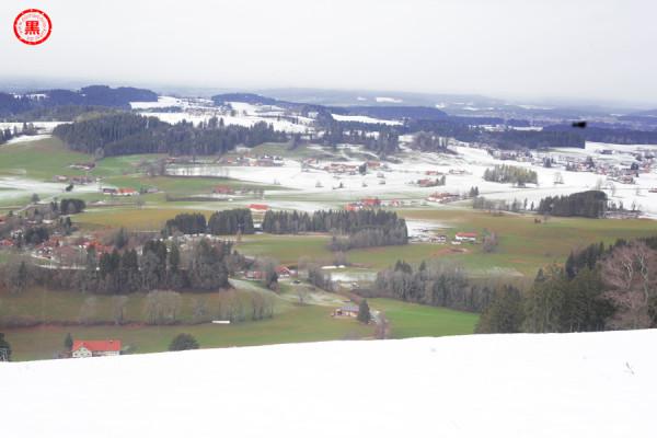Landschaft mit Sensorfleck