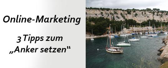Online-Marketing: Wie funktioniert ein Anker in einem Verkaufstext?