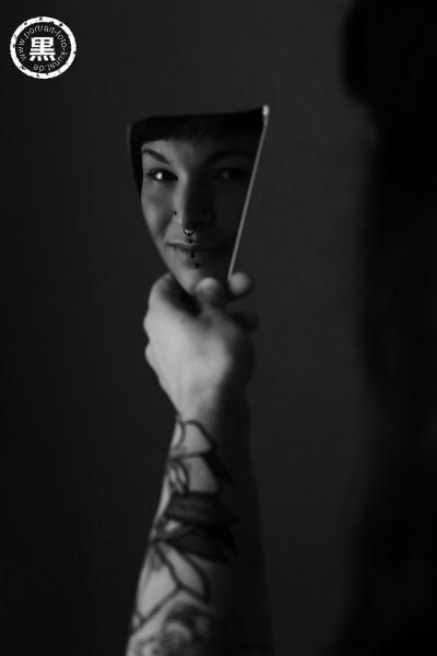 Spiegelscherbe Tattoo