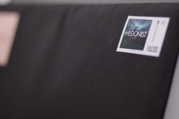 Hedonist-Briefmarke