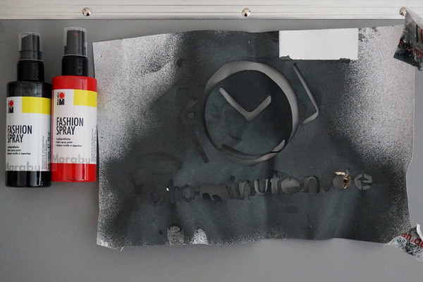 Schablone-Textildruck